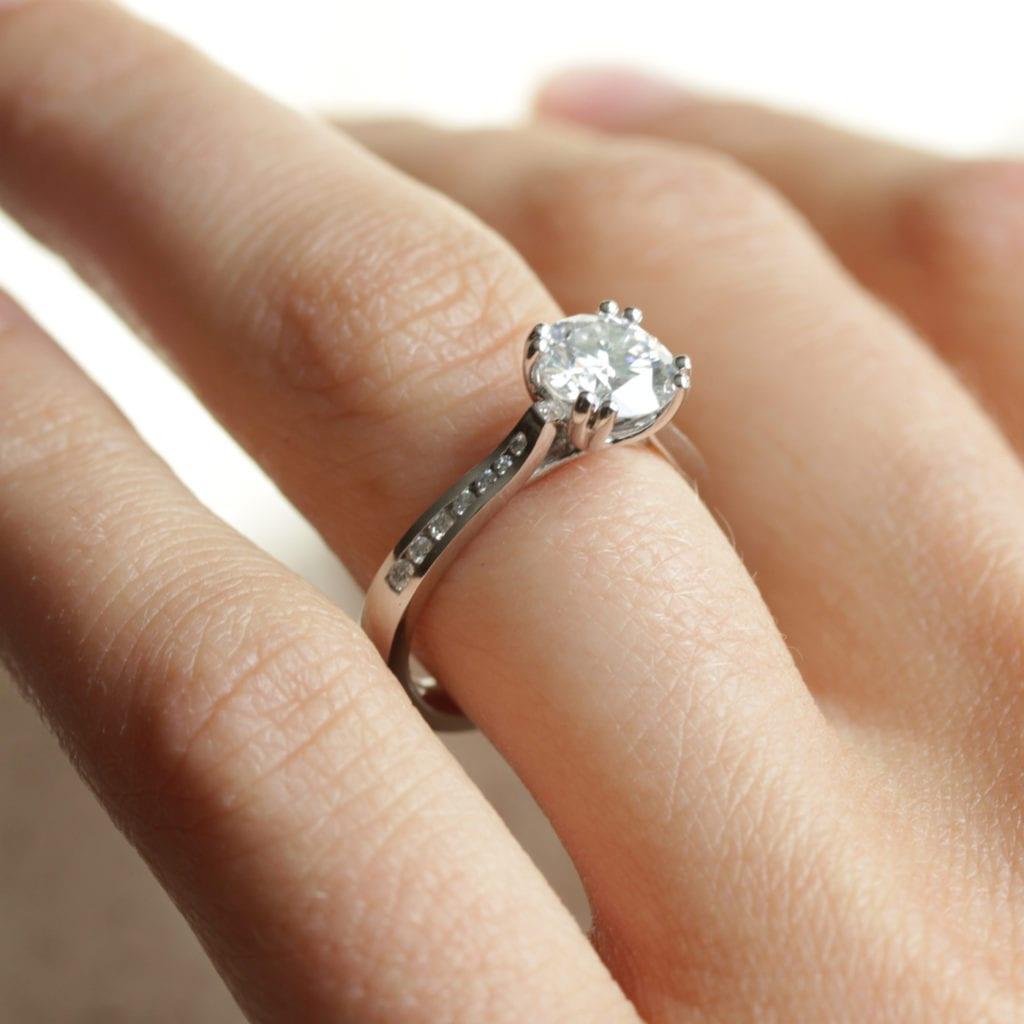Eco Friendly Round Cut Diamond Engagement Ring - Irene