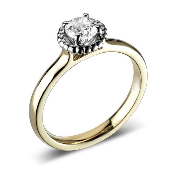 Diamond Ring With Milgrain Halo - Juliet