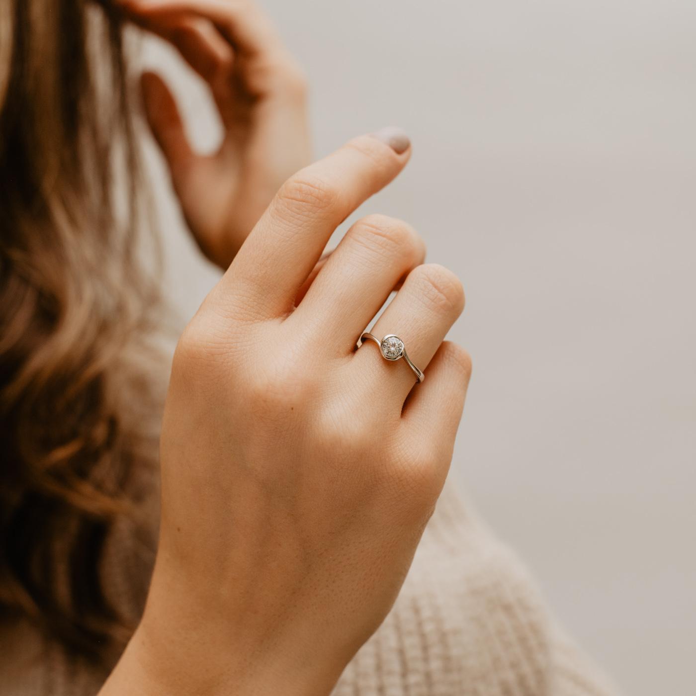 Rosebud Solitaire Engagement Ring | Kalika | Ethica Diamonds UK