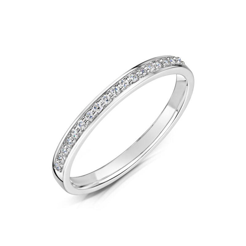 Lab Created Diamond Wedding Band - Lia