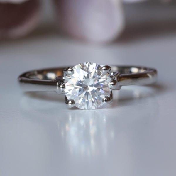 Home Grown Diamond Engagement Ring - Lotus