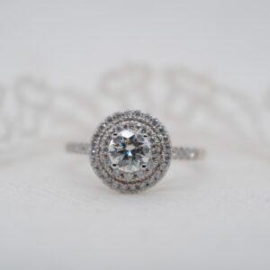 Double Halo Engagement Ring | Luna | Ethica Cornwall UK
