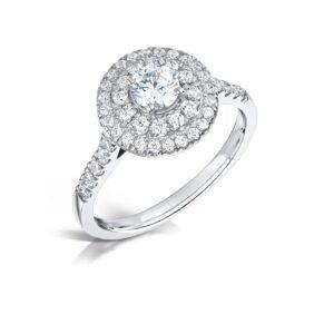 Man Made Diamond Engagement Ring - Luna