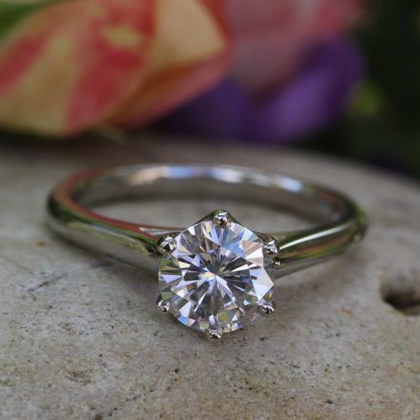 Pure Diamond Engagement Ring - Luvena