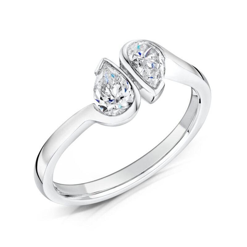 Eco Conscious Bezel Set Diamond Ring - Laris