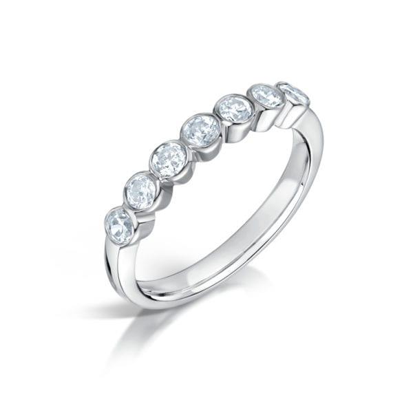 Bezel Set Pure Diamond Ring - Cassiel