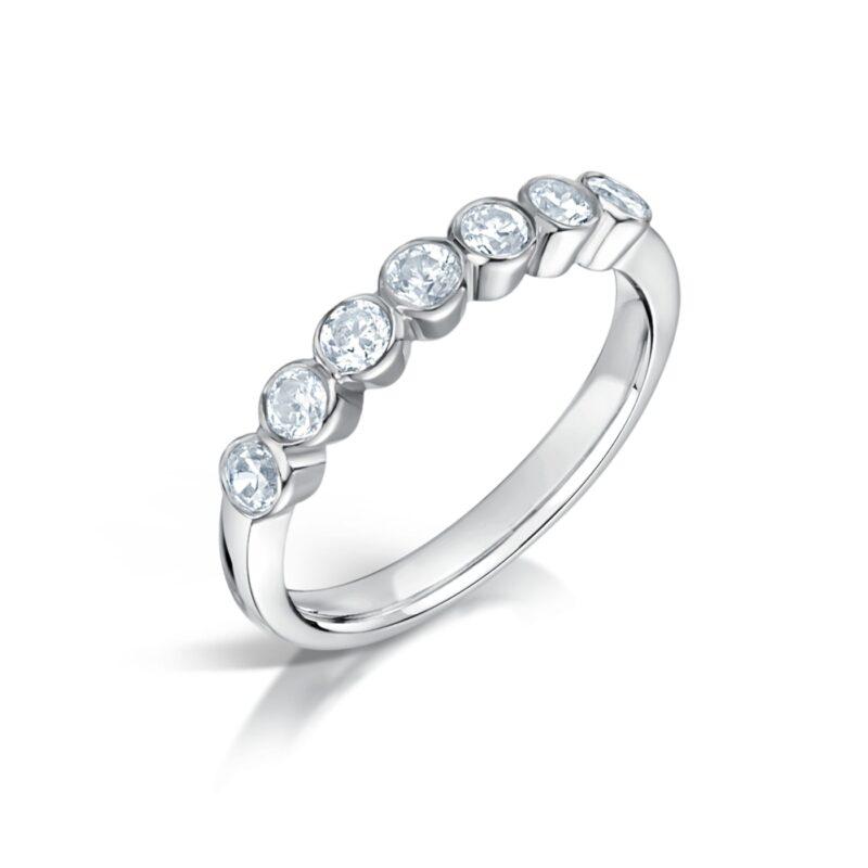 Bezel Set Diamond Alternative Ring | Cassiel | Ethica Diamonds