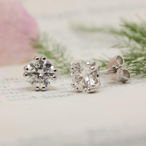 Vegan Friendly Diamond Earrings - Amorette