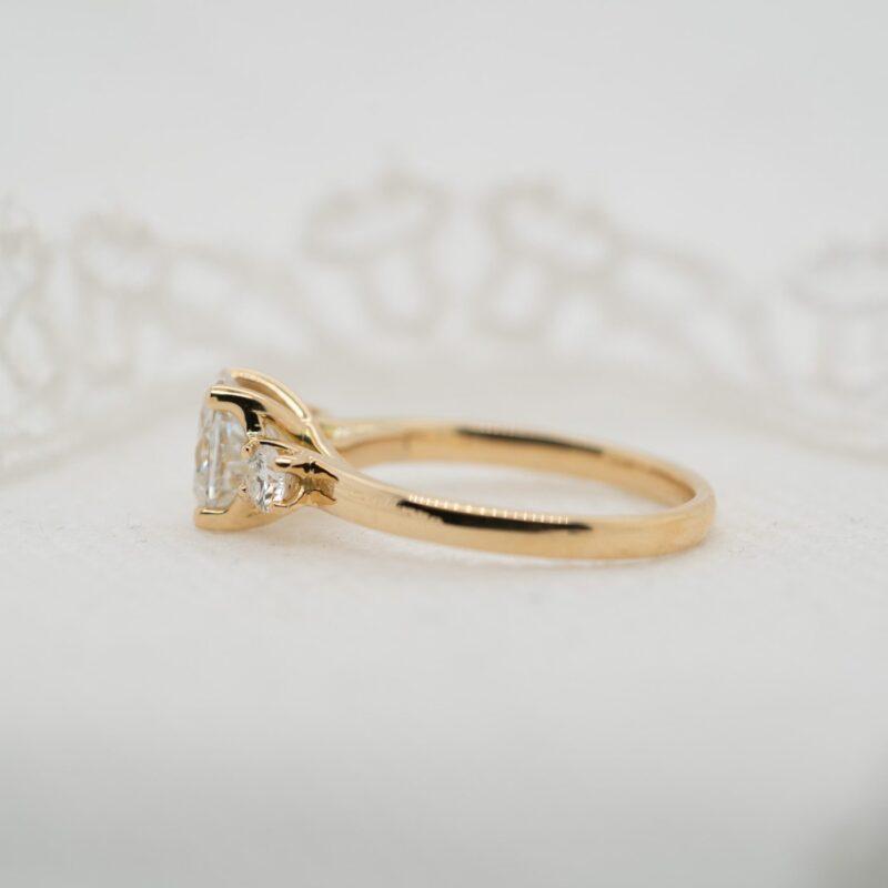 Oval Cut Diamond Alternative Ring   Madelyn   Ethica Diamonds UK