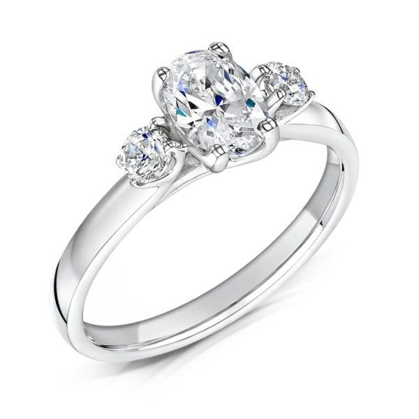 Oval Cut Eco Created Diamond Ring - Madelyn