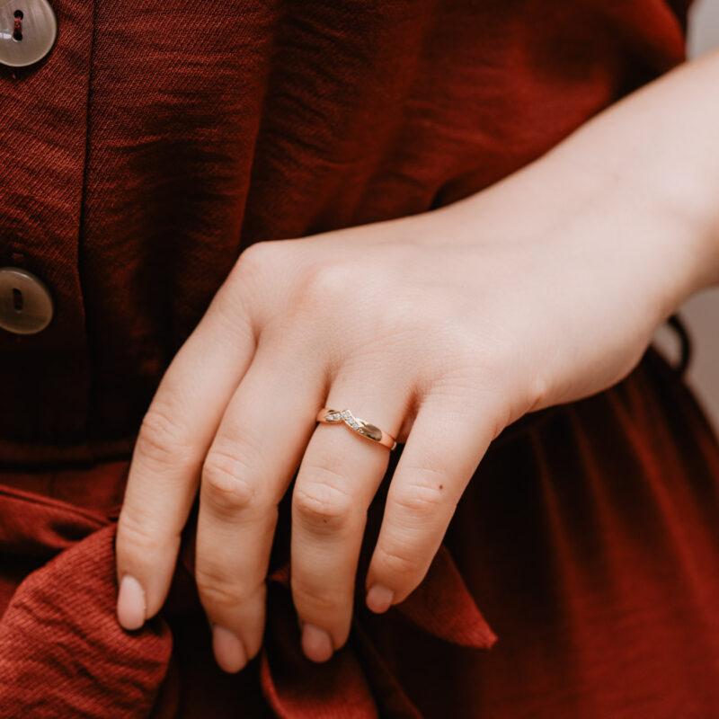 Sustainable Diamond Set Wedding Band   Mae   Ethica Diamonds UK