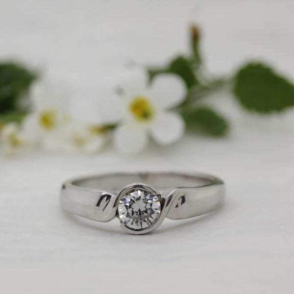 Vegan Friendly Diamond Ring - Marina - Ethica Diamonds Cornwall UK
