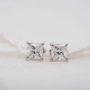Eco Friendly Diamond Princess Earrings | Mei | Ethica Cornwall