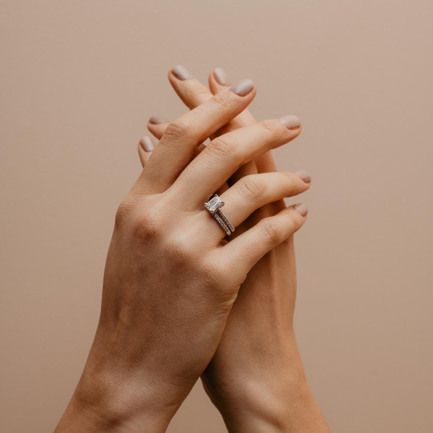 Conflict Free Diamond Wedding Ring   Nouveau   Ethica Diamonds UK