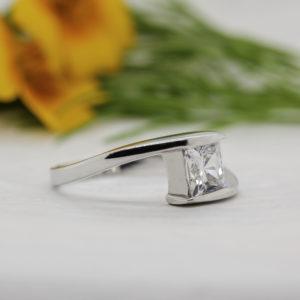 Princess Lab Created Diamond Ring - Odessa - Ethica Diamonds Cornwall UK