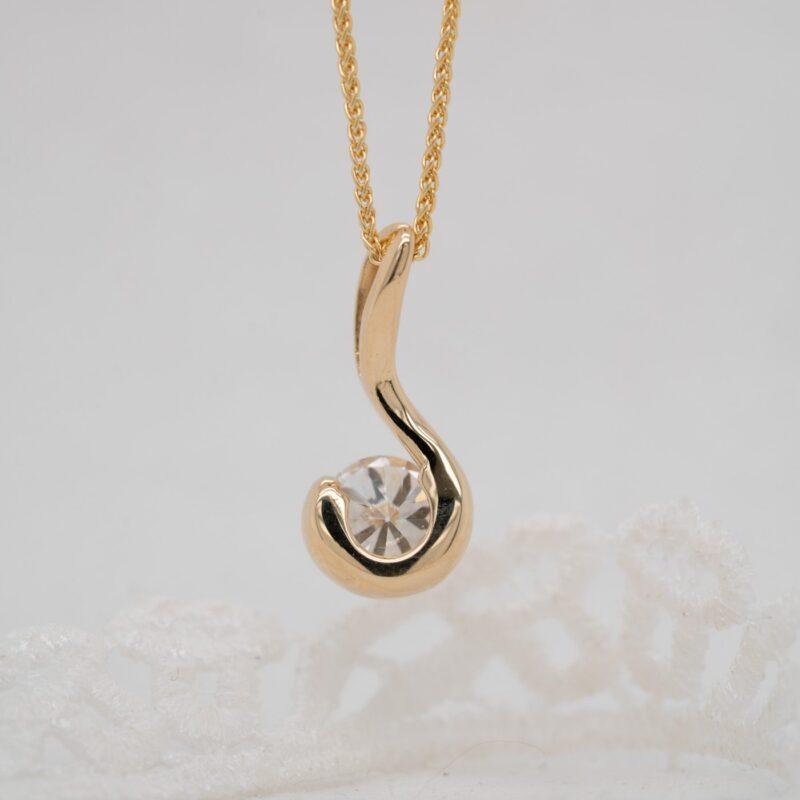 Ethically Sourced Diamond Pendant | Orla | Ethica Diamonds Cornwall UK