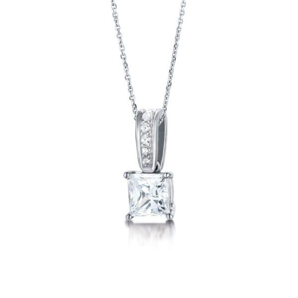 Earth Friendly Diamond Pendant - Astrid