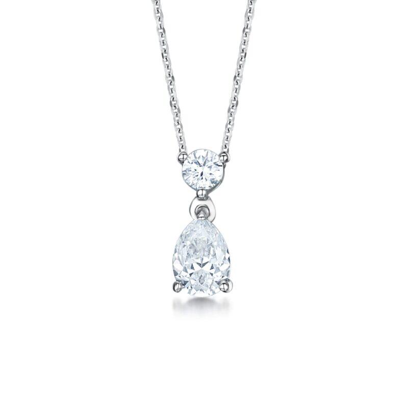Ethical Pear Cut Diamond Pendant - Beau