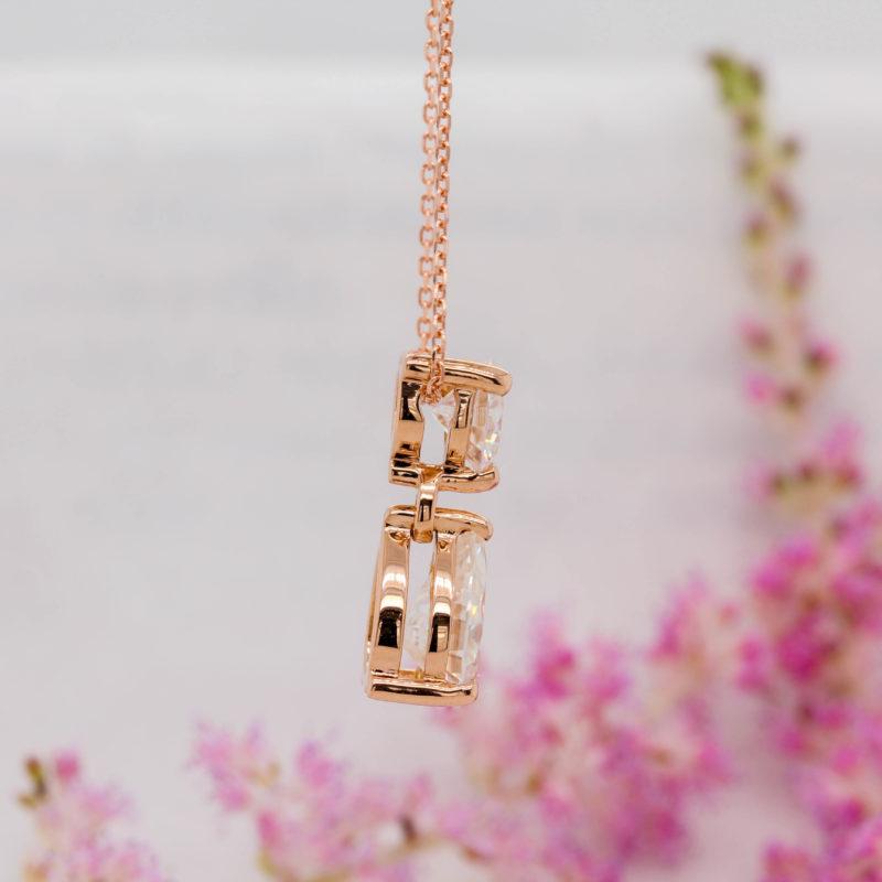 Ethical Pear Cut Diamond Pendant - Beau - Ethica Diamonds UK