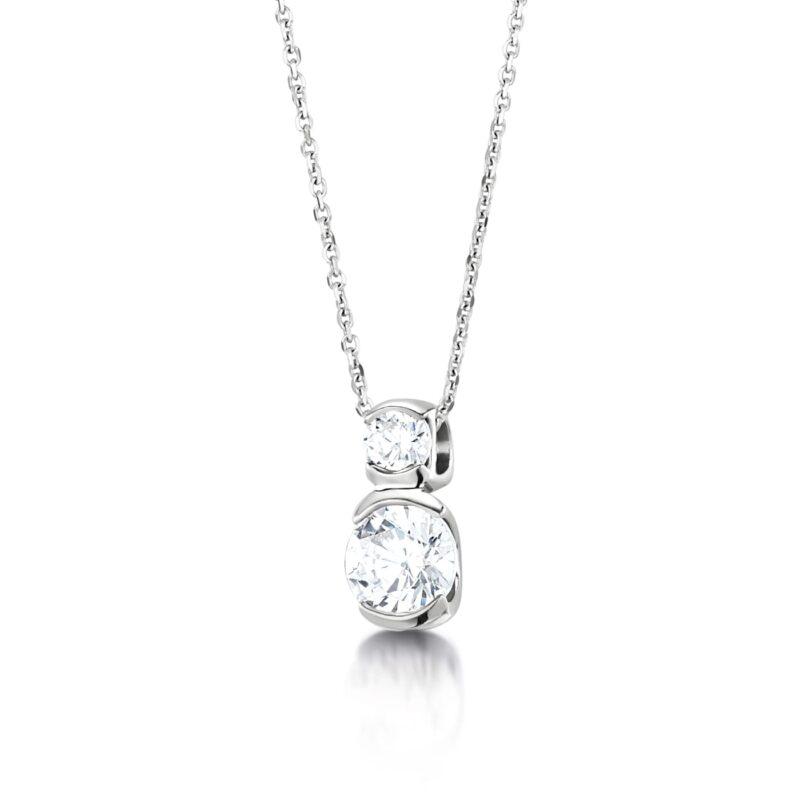 Feminine Sustainable Diamond Pendant - Belina