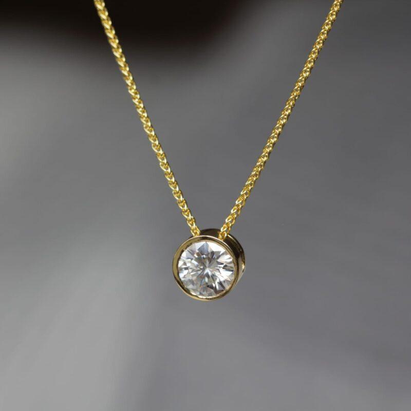 Vegan Friendly Diamond Pendant - Delaynie