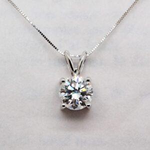Elegant Pure Diamond Pendant - Echo