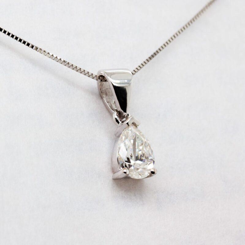 Lab Grown Pear Diamond Pendant - Nomi