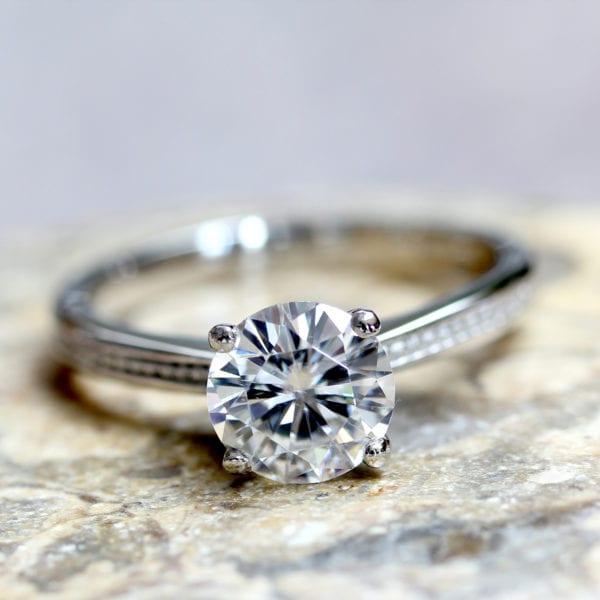 Pure Diamond Engagement Ring - Peony
