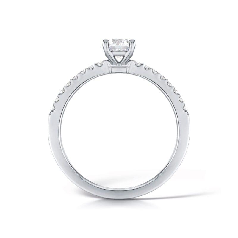 Shoulder Set Ethica Diamond Engagement Ring | Piper | Ethica UK