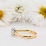 Handcrafted Oval Diamond Engagement Ring - Poppy - Ethica Diamonds Cornwall UK