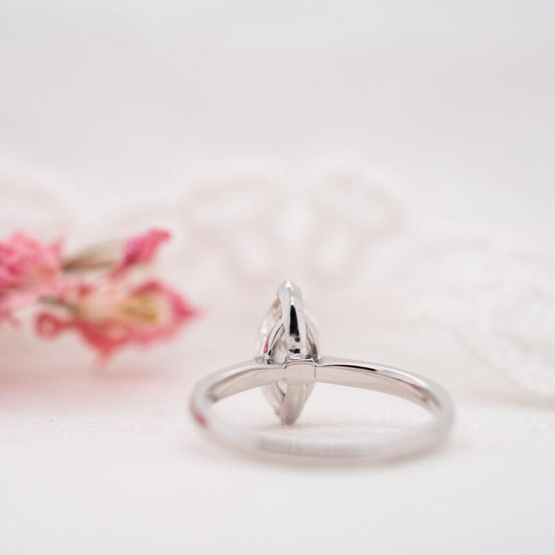Eco Friendly Marquise Diamond Ring | Rosemont | Ethica Diamonds UK