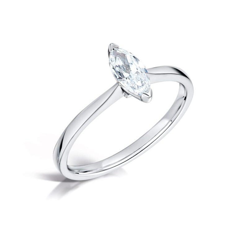Eco Friendly Marquise Diamond Ring - Rosemont - Ethica Diamonds Cornwall