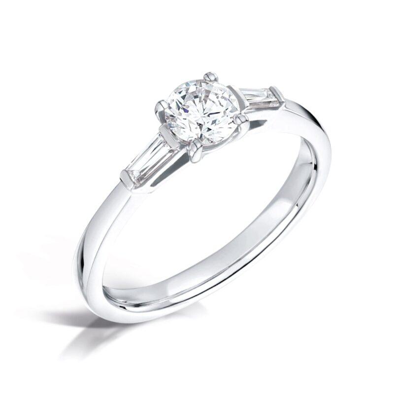 Round Brilliant Lab Created Diamond Ring - Scarlett