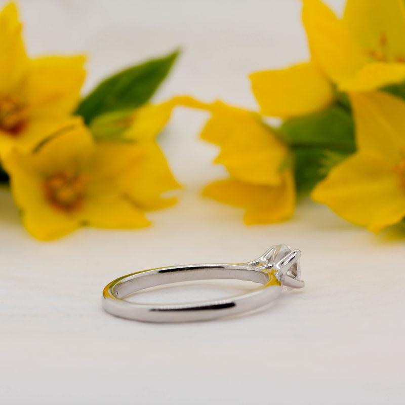 Vegan Friendly Diamond Ring - Selene - Ethica Diamonds Cornwall UK