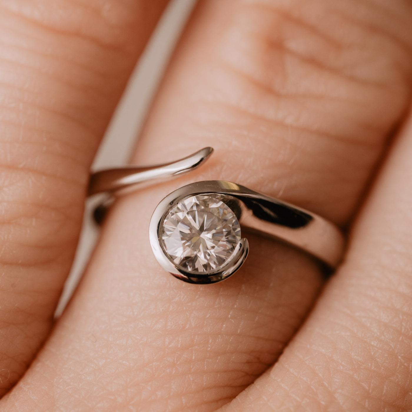 Sustainable Solitaire Diamond Ring   Sidonie   Ethica Diamonds Cornwall