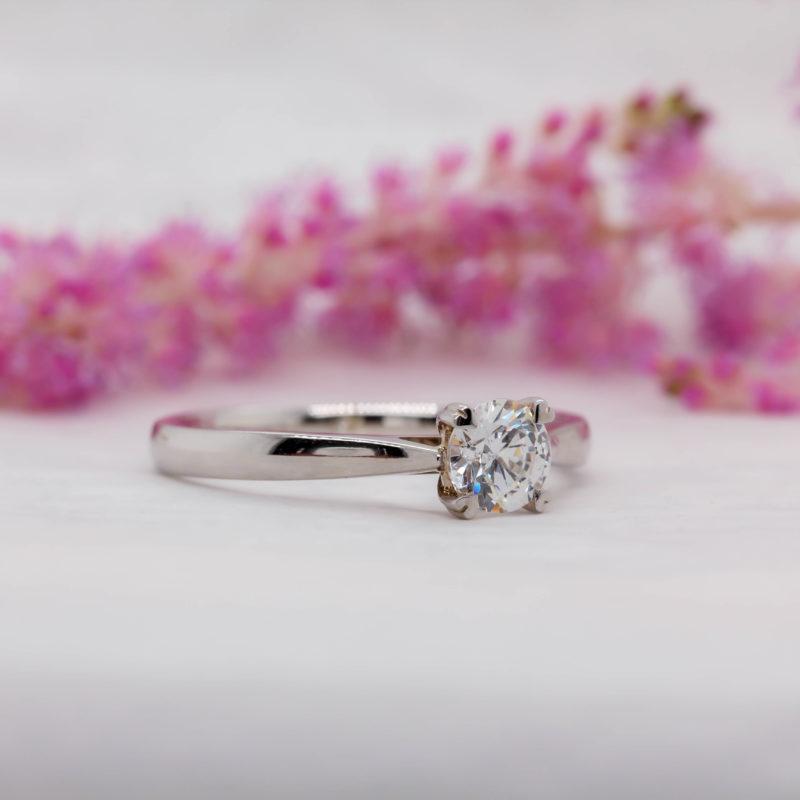 Vegan Friendly Diamond Engagement Ring - Tam - Ethica Diamonds UK
