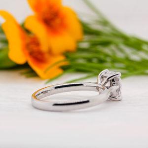 Ethical Cushion Cut Diamond Ring - Tansy - Ethica Diamonds Cornwall