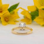 Eco Friendly Diamond Ring - Tulipe - Ethica Diamonds Cornwall UK