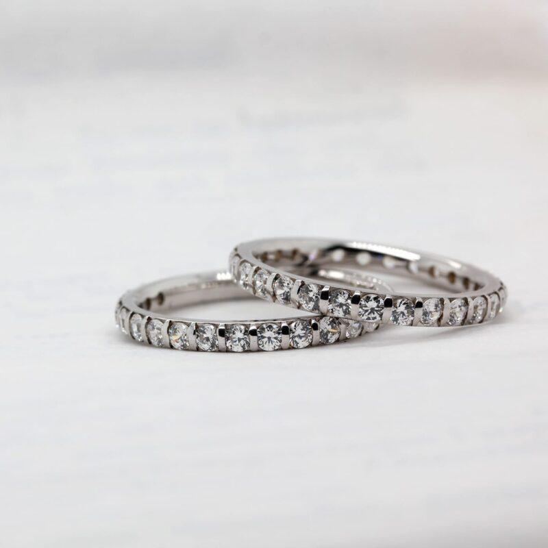 Eco Conscious Diamond Wedding Band - Vere Half Set