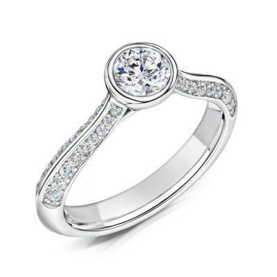 Lab Created Diamond Engagement Ring - Zahira