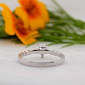 Heart Cut Pure Diamond Ring - Kerensa - Ethica Diamonds Cornwall UK
