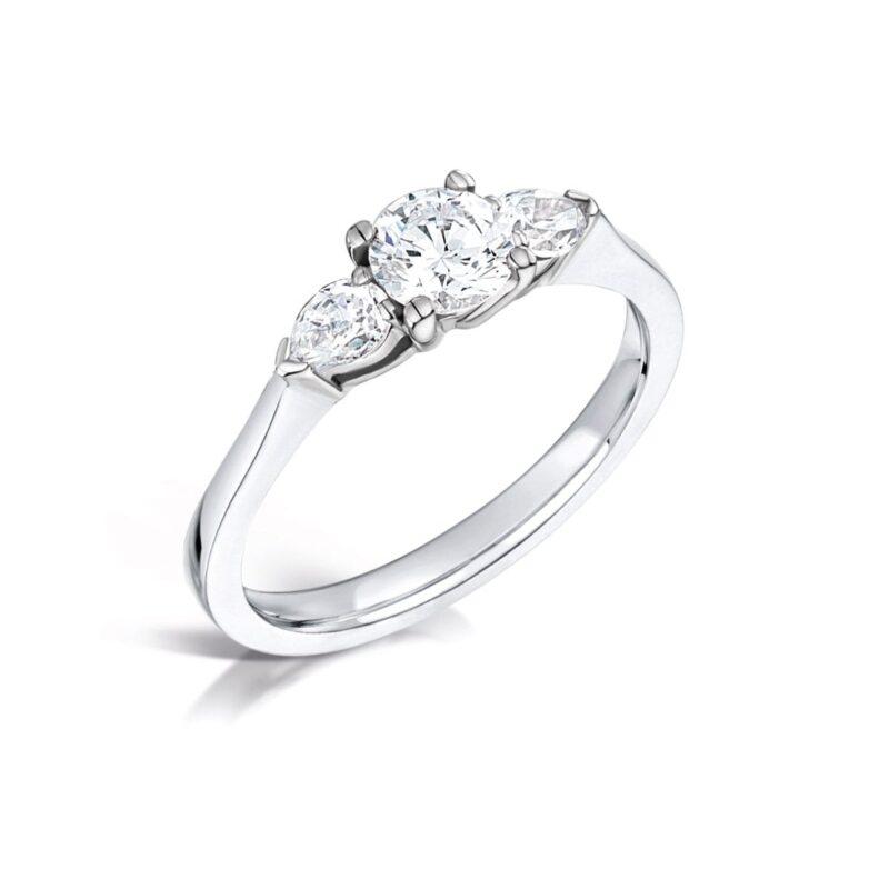 Eco Friendly Diamond Pear Cut Ring - Georgia