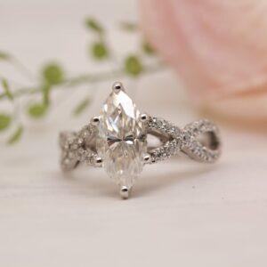Ethical Marquise Cut Diamond Engagement Ring | Ethica Diamonds UK