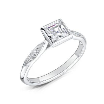 Ethically Sourced Princess Cut Diamond Ring - Celia