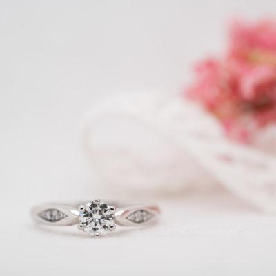 Man Made Round Brilliant Diamond Engagement Ring   Celia   Ethica UK
