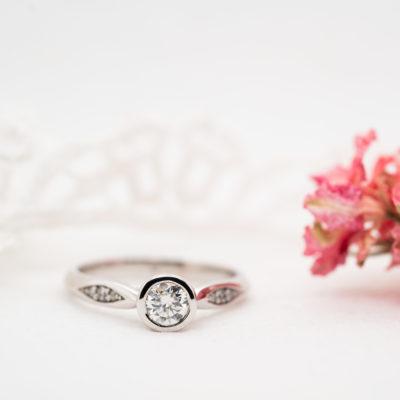 Bezel Set Ring With Eco Conscious Diamonds   Celia   Ethica Cornwall