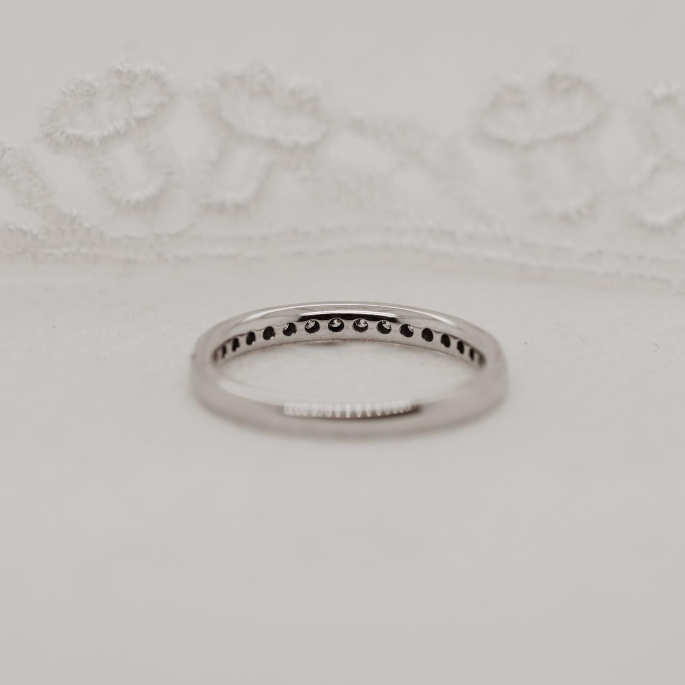 Vintage Diamond Set Wedding Band | Charity Half Set 2.0mm | Ethica UK