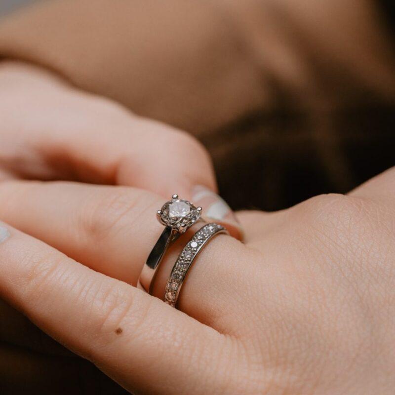 Sustainable Diamond Set Wedding Band   Charity Half Set 2.5mm   Ethica