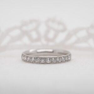 Sustainable Diamond Set Wedding Band | Charity Half Set 2.5mm | Ethica