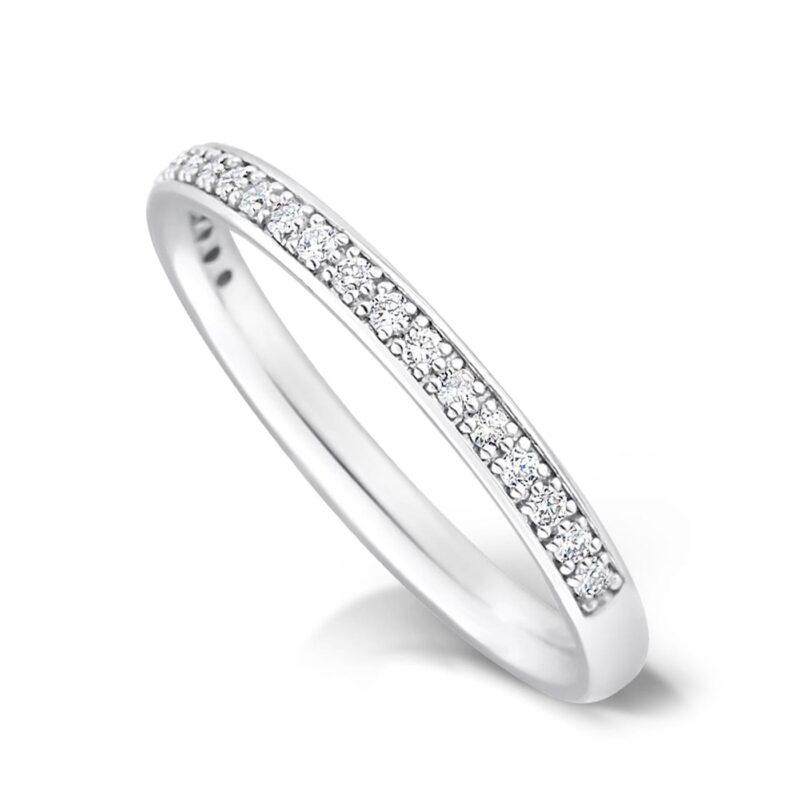 Vintage Diamond Set Wedding Band - Charity Half Set 2.0mm